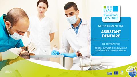 Assistant dentaire h/f - Contrat de professionnalisation ...